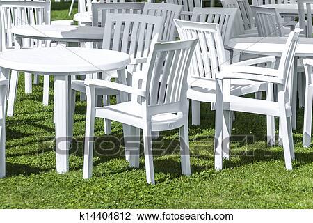 Plastik Gartenmöbel Stock Bild K14404812 Fotosearch