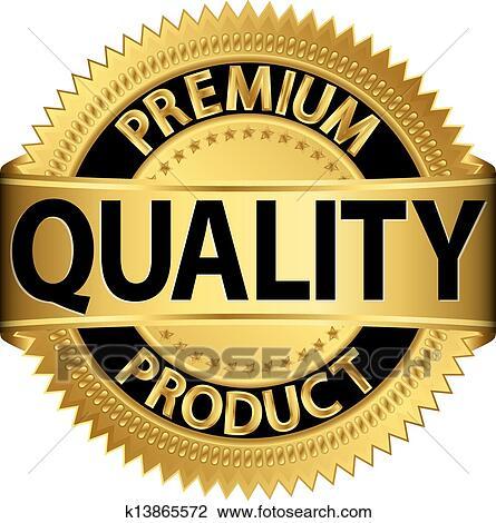 Premium quality product golden labe Clipart | k13865572 ...