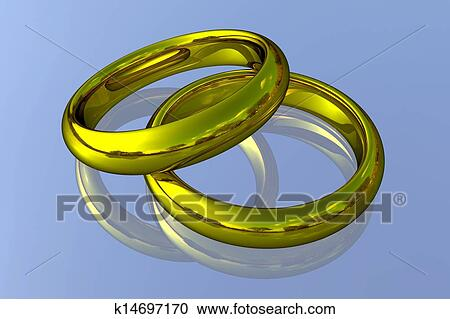 Stock Illustrations Of Realistic Wedding Rings Gold K14697170