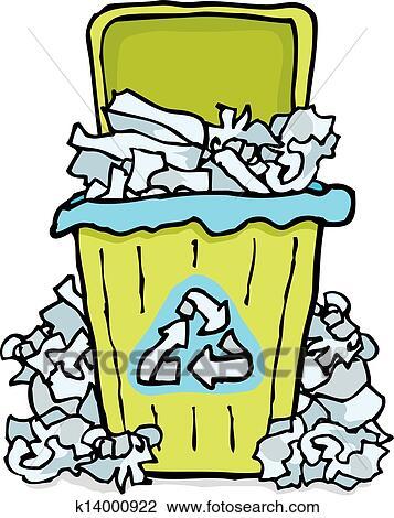 Clipart Reciclagem Lixo Caixa Papel K14000922 Busca De