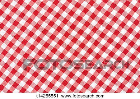 Red And White Tablecloth Diagonal Stock Image K14265551 Fotosearch