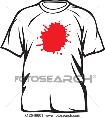 Red Stains On White T Shirt Clipart