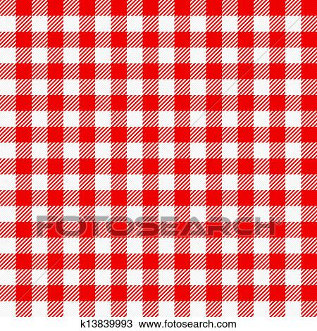 Red White Plaid Tablecloth Clipart K13839993 Fotosearch