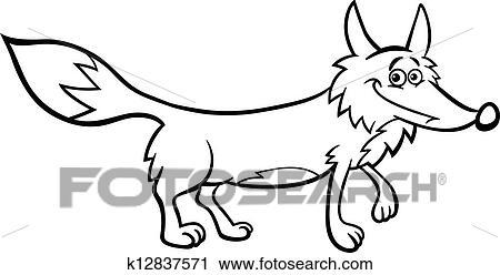 Clipart renard dessin anim illustration pour - Clipart renard ...