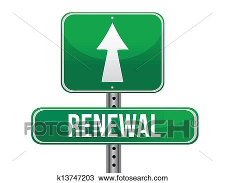 Clipart Of Renewal Road Sign Illustration Design K13747203 Search