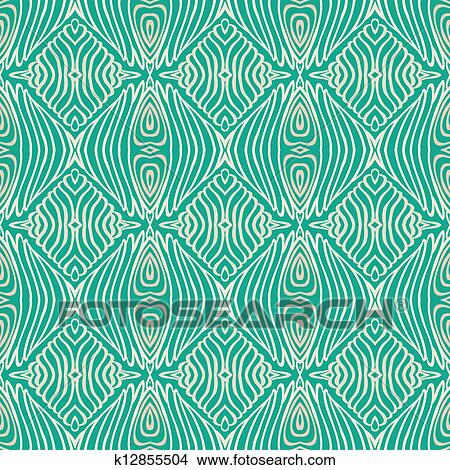 Retro Grunge Pattern Fifties Textile Design Clipart