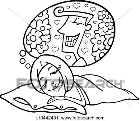 Clipart Rigolote Femme Rever Homme K13442431 Recherchez Des