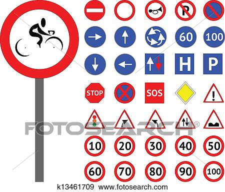 ... free vector Svg Road Signs clip art