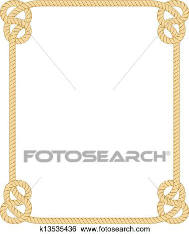 clip art of rope border k13535436 search clipart illustration rh fotosearch com clipart propellers clipart open book