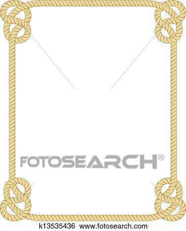 clip art of rope border k13535436 search clipart illustration rh fotosearch com clipart open heart clipart open book