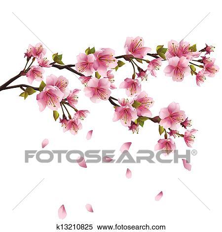 Sakura 花 日本語 桜の木 クリップアート切り張りイラスト絵画