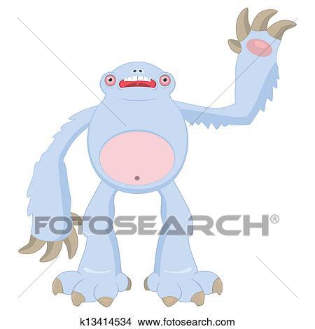 Clipart Schnee Monster K13414534 Suche Clip Art Illustration