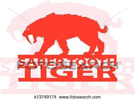Clipart Sciabola Dente Tiger K13749174 Cerca Clipart