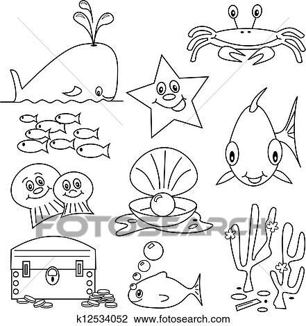 Sea Life Cartoons Clipart