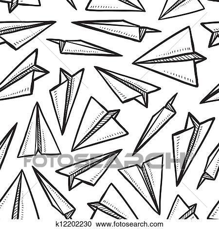clipart seamless avion papier mod le k12202230 recherchez des clip arts des illustrations. Black Bedroom Furniture Sets. Home Design Ideas