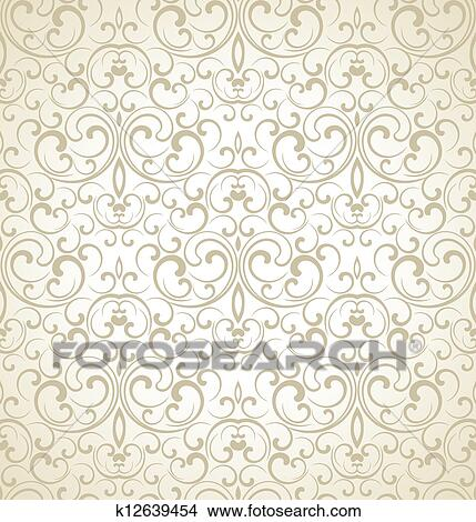 Seamless Wedding Card Background Clipart K12639454 Fotosearch