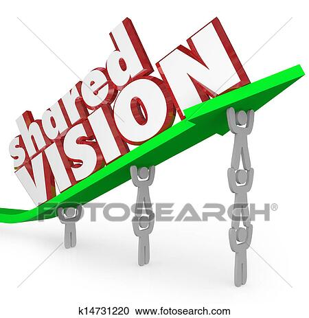 stock illustrations of shared vision common goal workers cooperate rh fotosearch com vision pictures clip art vision clip art images