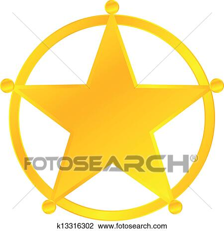 clipart of sheriff badge k13316302 search clip art illustration rh fotosearch com sheriff badge clipart vector sheriff badge clipart png