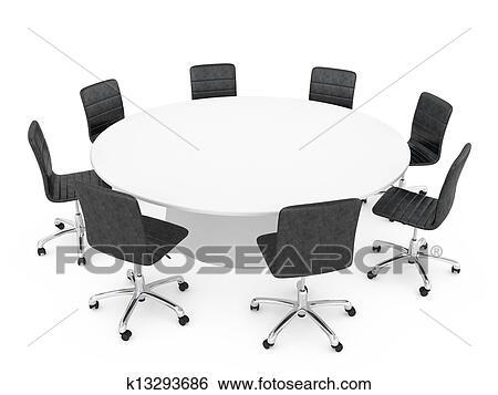 Colección de ilustraciones - sillas de la oficina, alrededor, un ...
