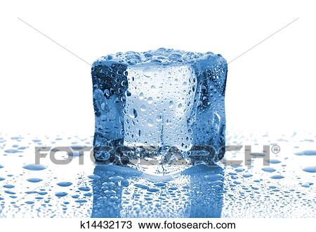 various colors thoughts on thoughts on Single melted ice cube Stock Image | k14432173 | Fotosearch