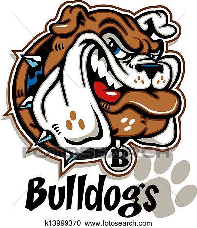 Clipart Of Smirking Cartoon Bulldog Face K13999370 Search Clip Art