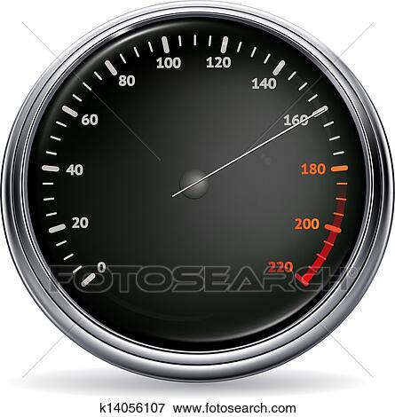 Speedometer, vector Clip Art