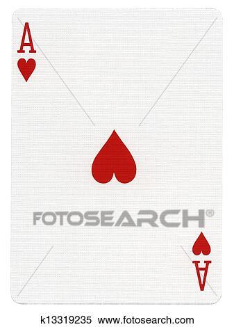 Spielen Karte As Herzen Stock Fotografie K13319235 Fotosearch