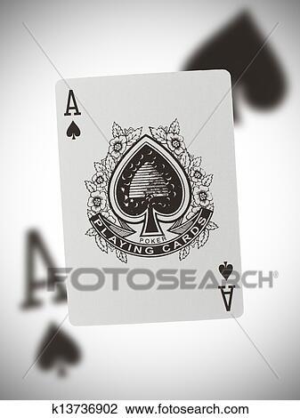 Spielen Karte As Spaten Stock Bild K13736902 Fotosearch