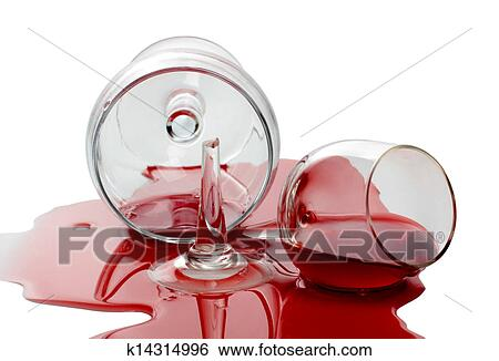 stock images of spilled wine glass k14314996 search stock