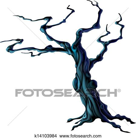 clipart of spooky halloween tree k14103984 search clip art rh fotosearch com spooky clipart ghost spooky halloween clipart
