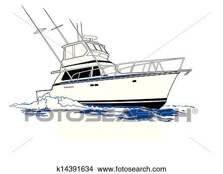 Sport Fishing Boat Clipart K14391634 Fotosearch