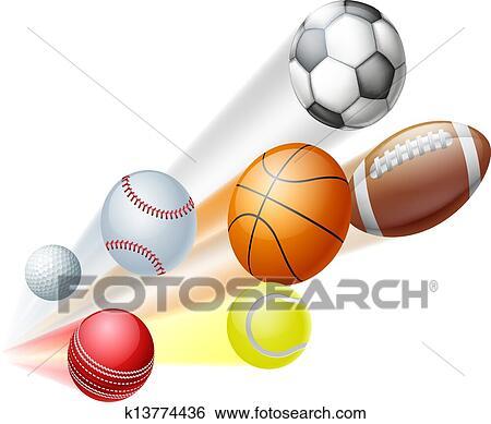 clip art of sports balls concept k13774436 search clipart rh fotosearch com sport balls clipart free sports balls clip art black white