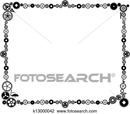 Clipart of Steampunk frame k13000042 - Search Clip Art, Illustration ...
