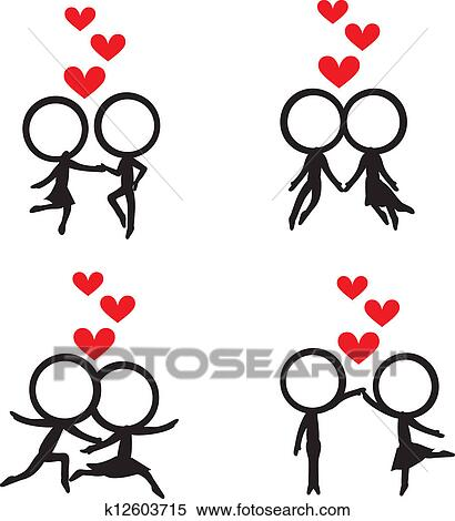 Clipart of stick figure with hearts background k12603715 search clipart stick figure with hearts background fotosearch search clip art illustration murals voltagebd Images