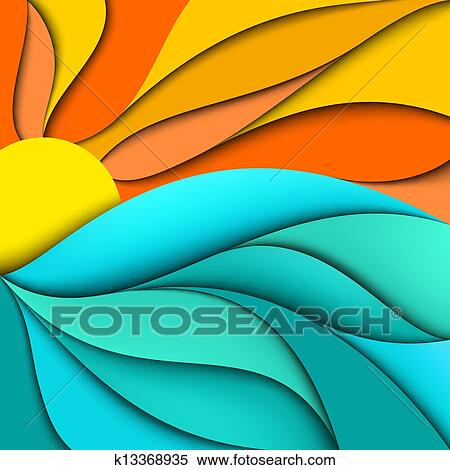 clipart of sunset sunrise sea waves background k13368935 search rh fotosearch com sunset clipart pictures sunset clipart black and white