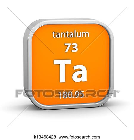 Stock Illustration Of Tantalum Material Sign K13468428 Search Eps