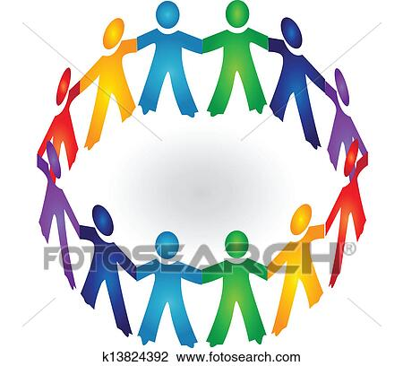 clipart of teamwork holding hands logo vector k13824392 search rh fotosearch com teamwork clip art black and white teamwork clip art pictures