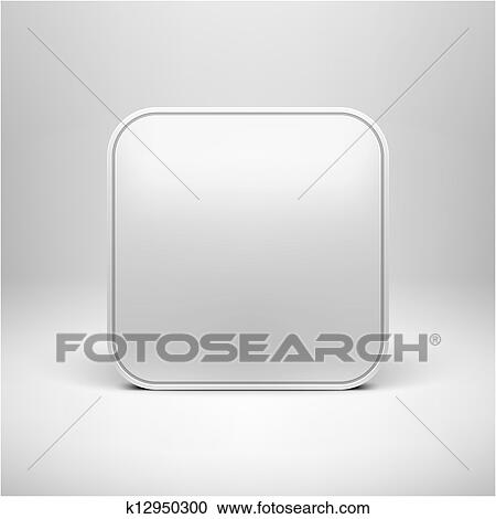 Clipart of Technology Blank App Icon Template k12950300 - Search ...