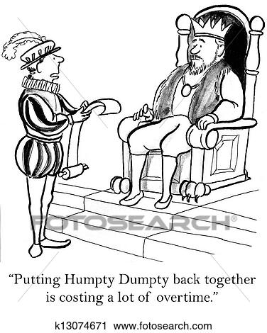 Clipart Of The Humpty Dumpty Project Is Expensive K13074671