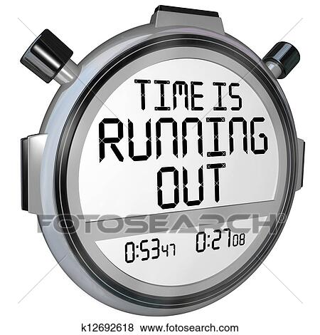 stock illustration of time is running out stopwatch timer clock