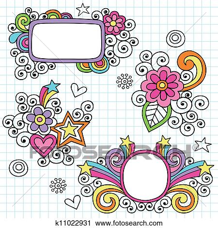 Clipart - toll, rahmen, und, umrandungen, doodles k11022931 - Suche ...