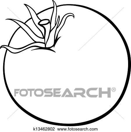 Tomato vegetable cartoon for coloring book Clipart ...