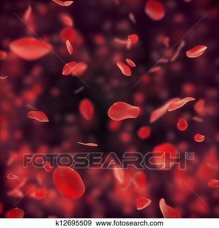 Banque D Illustrations Tomber Rose Rouge Petales Sur Sombre