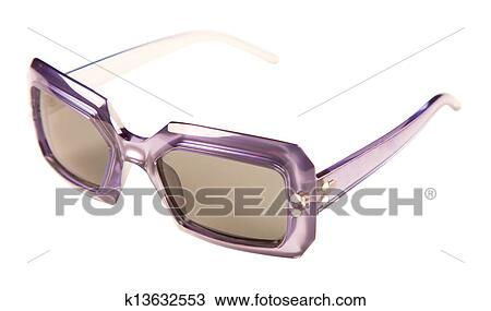 05a8bbe46 Translucid purple rimmed vintage sunglasses isolated on white background. Clipping  path included.