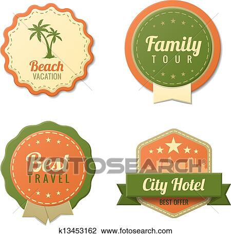 Clipart of travel vintage labels template collection tourism clipart travel vintage labels template collection tourism stickers fotosearch search clip art maxwellsz