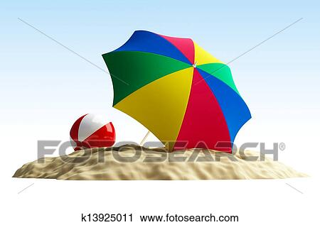 Stock Photography Of Umbrella Beach Beach Ball K13925011 Search