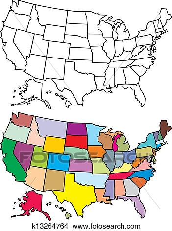 clipart of usa map k13264764 search clip art illustration murals rh fotosearch com us map clip art powerpoint us map clipart