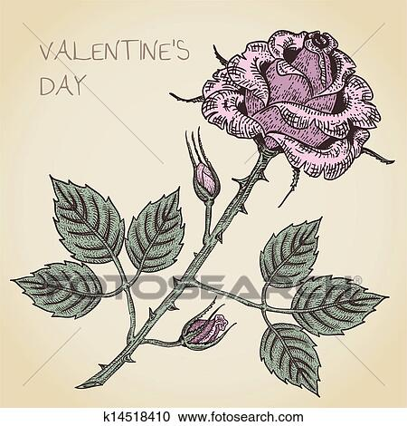 Clipart Of Valentine Card K14518410 Search Clip Art Illustration