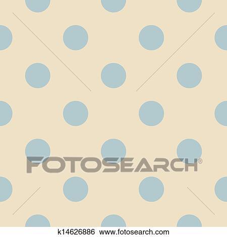 Vector Blue Polka Dots Pattern Clip Art K14626886 Fotosearch