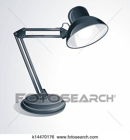Clip Art Vector Desk Lamp Fotosearch Search Clipart Ilration Posters Drawings